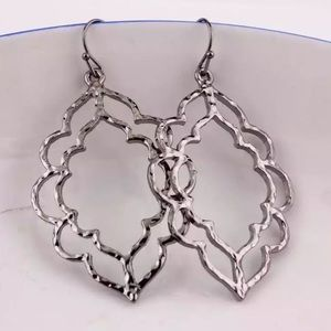Gunmetal Filigree Earrings